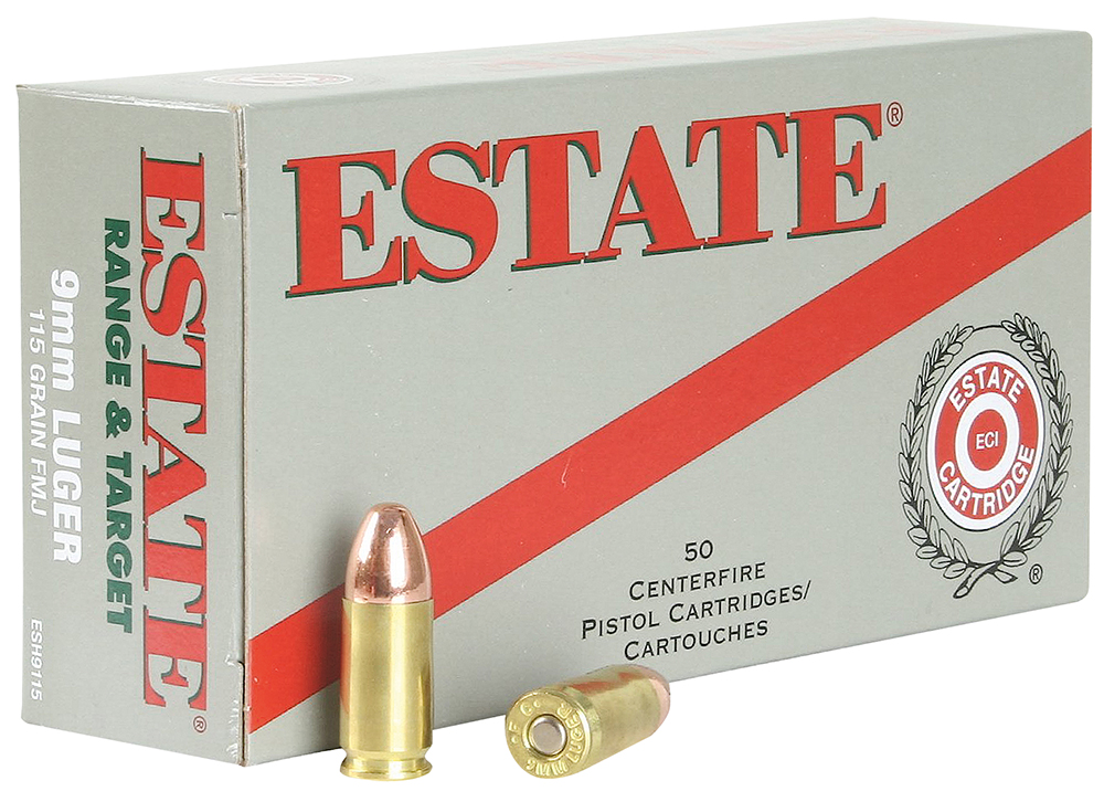Estate ESH9115 Range 9mm Full Metal Jacket 115GR 50Box/20Case