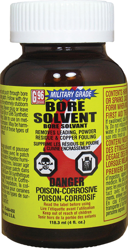 G-96 1108 Military Grade Bore Solvent 4oz 1 Bottle