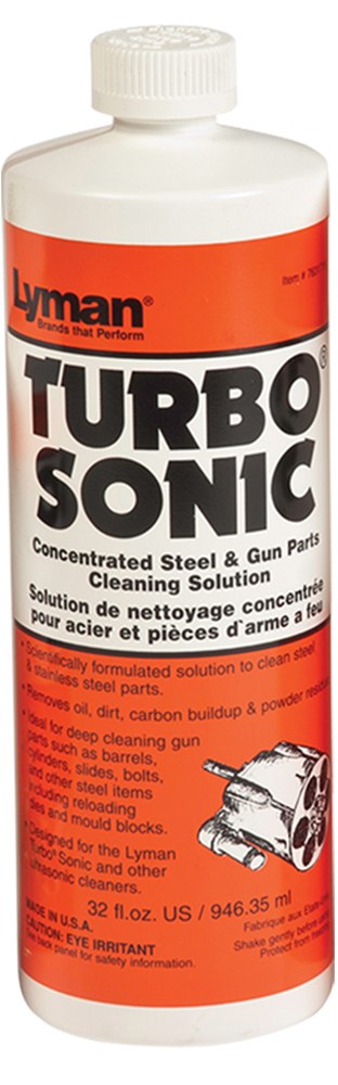 Lyman 7631715 Turbo Sonic Concentrated Steel & Gun Parts Cleaning Solution 32oz