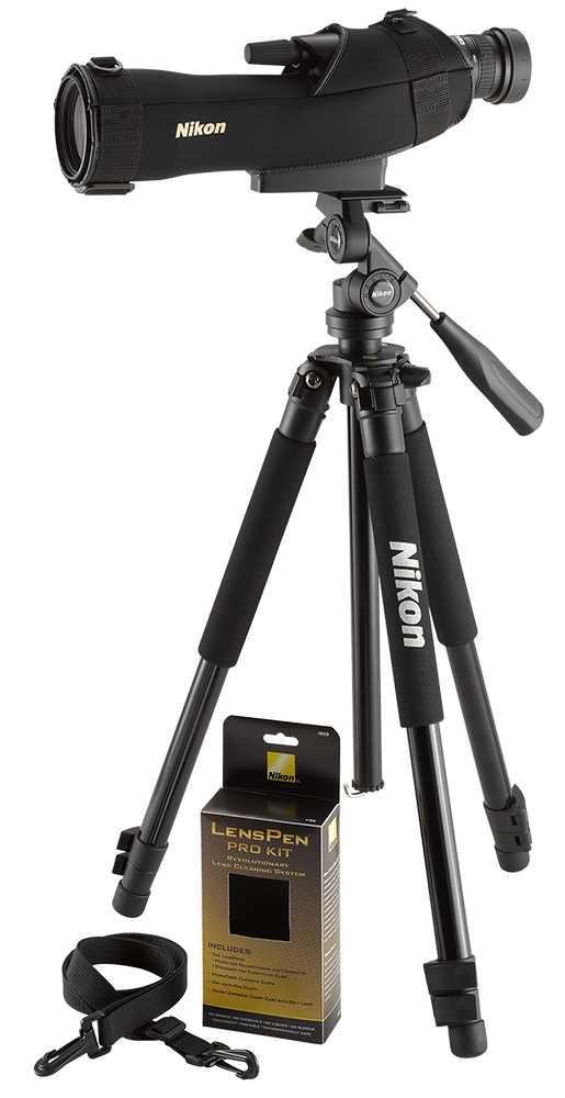 Nikon 6981 Prostaff 5 Outfit 16-48x60mm 136ft@1000yd 16.9mm Eye Relief Straight