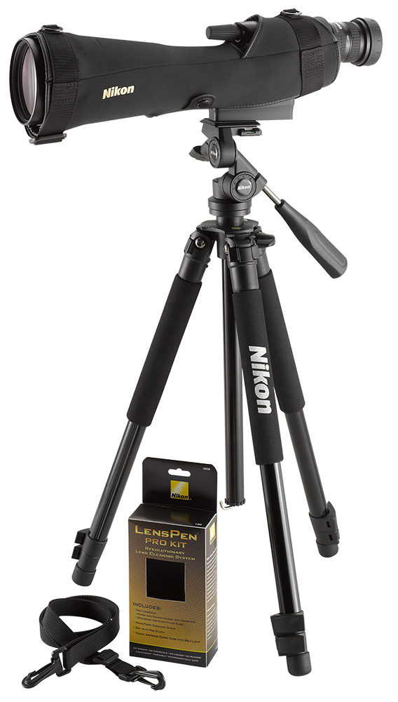 Nikon 6982 Prostaff 5 Outfit 20-60x 82mm 109ft@1000yd 16.9mm Eye Relief Straight