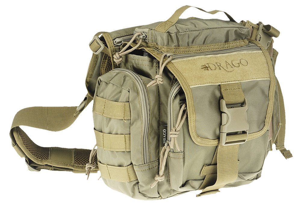 Drago Gear 15302TN Officer Shoulder Pack 840D Nylon Tan