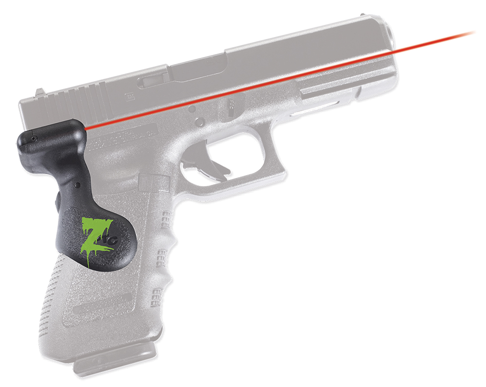 Crimson Trace LG617Z Lasergrip For Glock Smooth Zombie Grn Logo