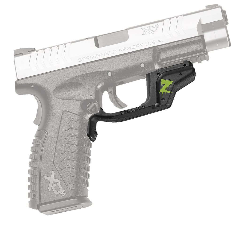 Crimson Trace LG448Z LaserGrip Grip XD/XDM Smooth Zombie Green Logo