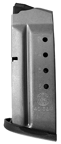 Smith & Wesson 199330000 Magazine M&P Shield 40 S&W 6rd Aluminum Black Finish