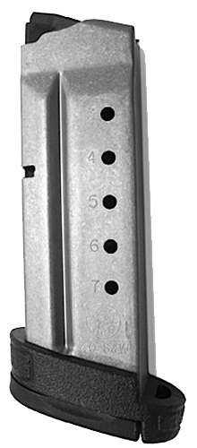 Smith & Wesson 199340000 Magazine M&P Shield 40 S&W 7rd Aluminum Black Finish