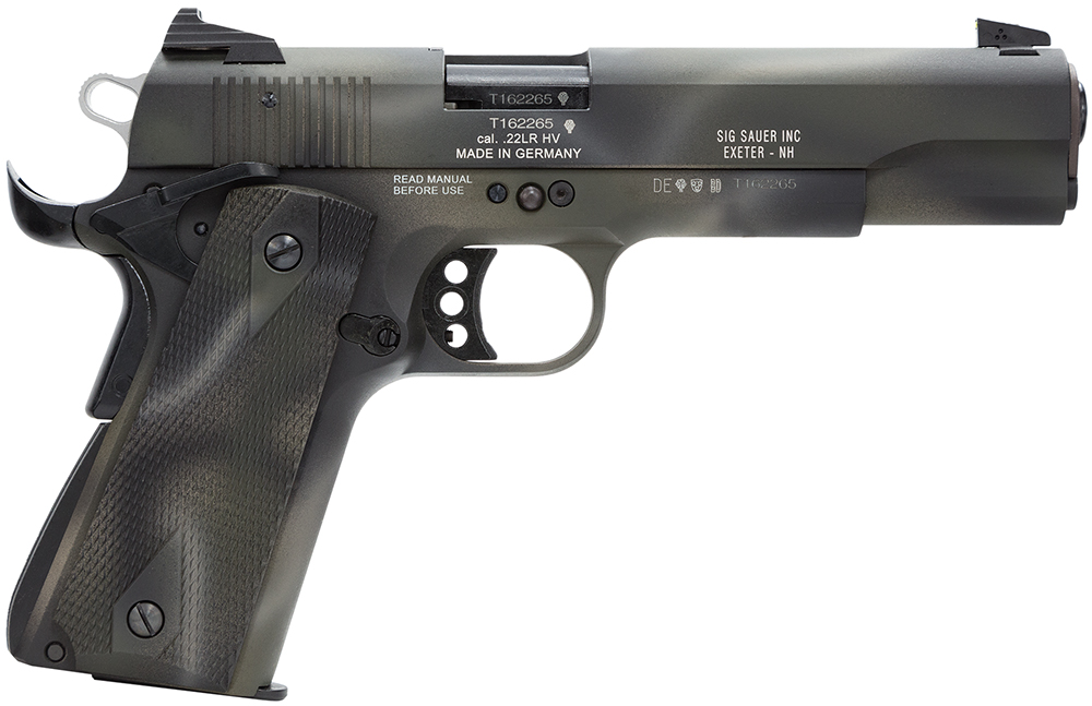 Sig Sauer 191122C1 1911 22LR 5″ 10+1 Contrast Sights Polymer Grips Camo