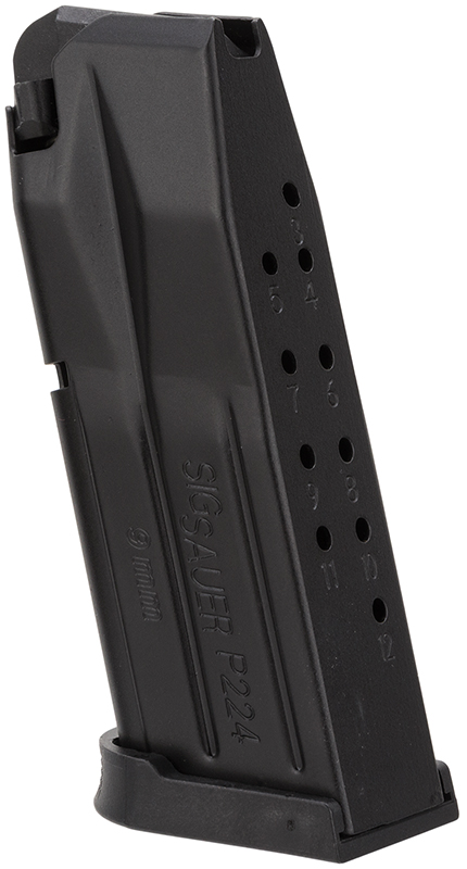 Sig MAG224912 Mag 224 9mm 12rd Blk Finish
