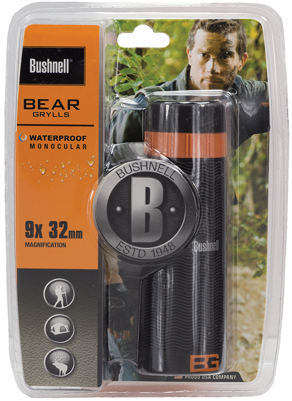 Bushnell 180932C Bear Grylls 9x 32mm 300 ft @ 1000 yds FOV Black