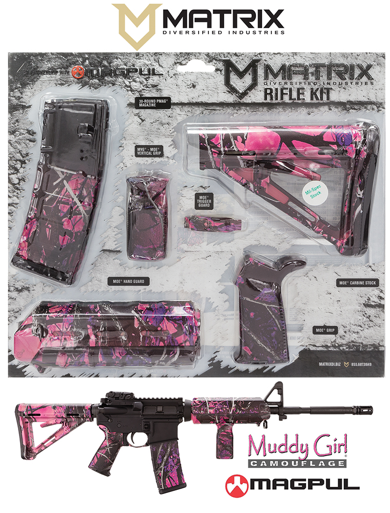 MDI MAGMIL03-MG Magpul MOE Kit AR-15 Poly Muddy Girl Camo