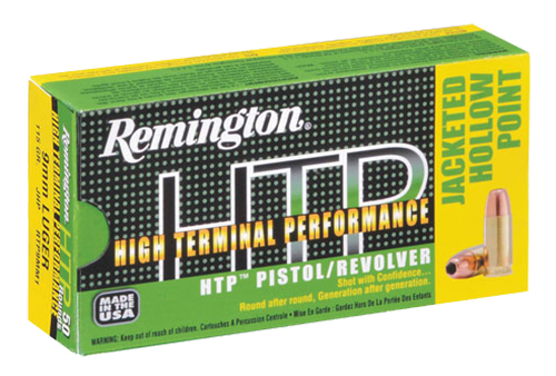 Rem Ammo RTP9MM1 HTP 9mm 115GR Jacketed Hollow Point 50Bx/10Cs