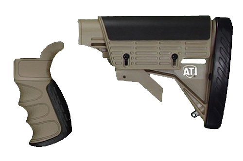 ATI A2201222 AR15 Strikeforce Stock/Pistol Grip Glass-Filled Nylon Tan
