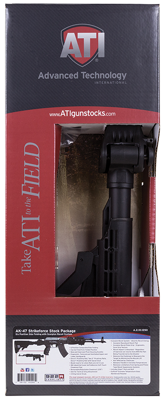 ATI A2101250 AK- 47 Strikeforce Stock Handguard and Grip Package Blk