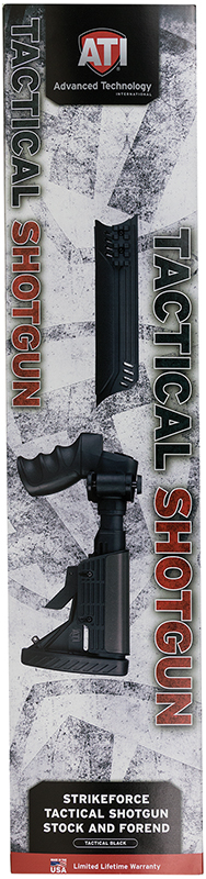 Advanced Technology A1101130 Shotgun 6Pos Folding Stock And Forend Package Blk
