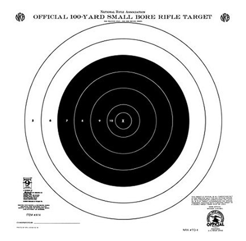Hoppes A14T 100yd Single Bull''s-Eye 20 Pac