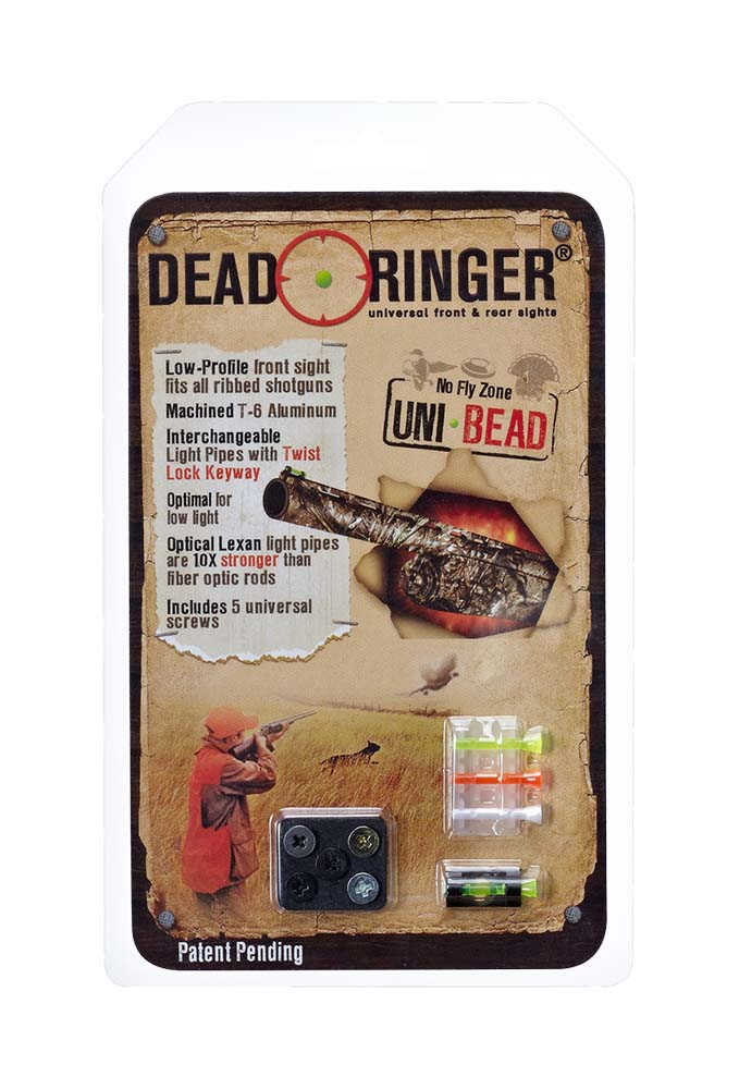 Dead Ringer DR4386 Uni-Bead Front Sight Interchangable Lexan Green/Orange/White