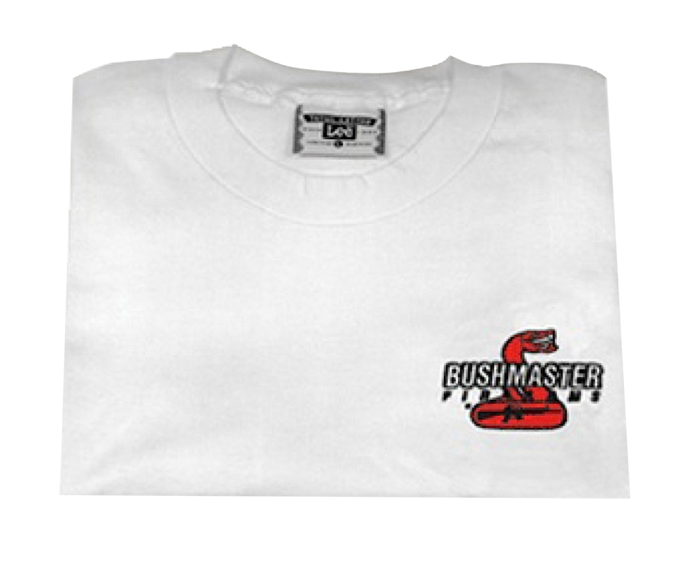 Bushmaster Logo T-Shirt Short Sleeve Cotton Large White