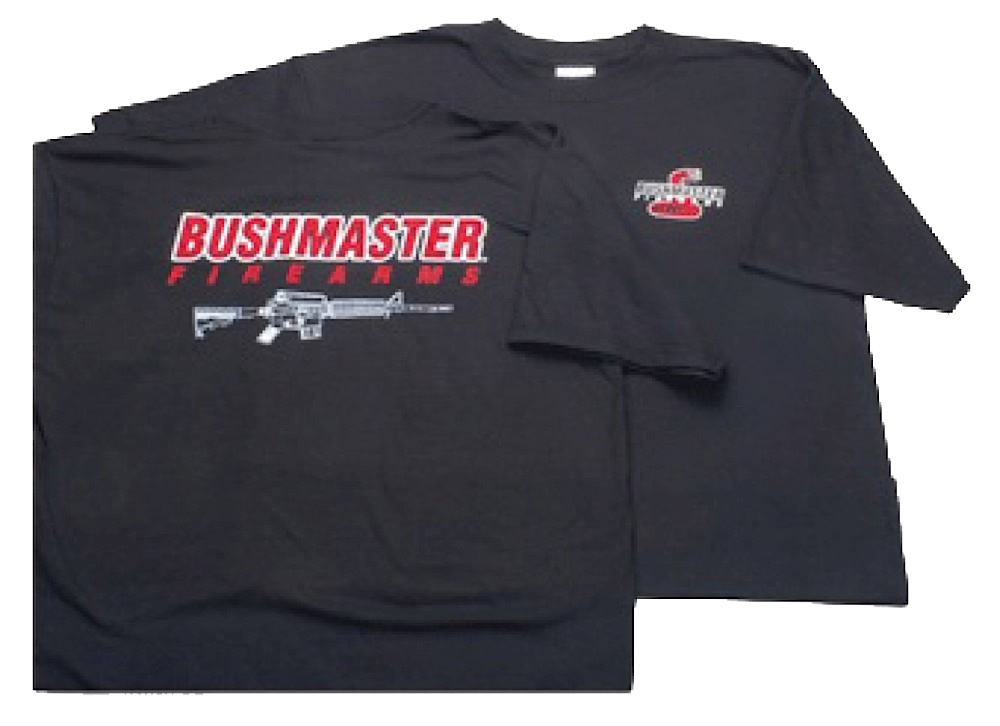 Bushmaster AR-15 Schematic T-Shirt Short Sleeve Medium Cotton Gray