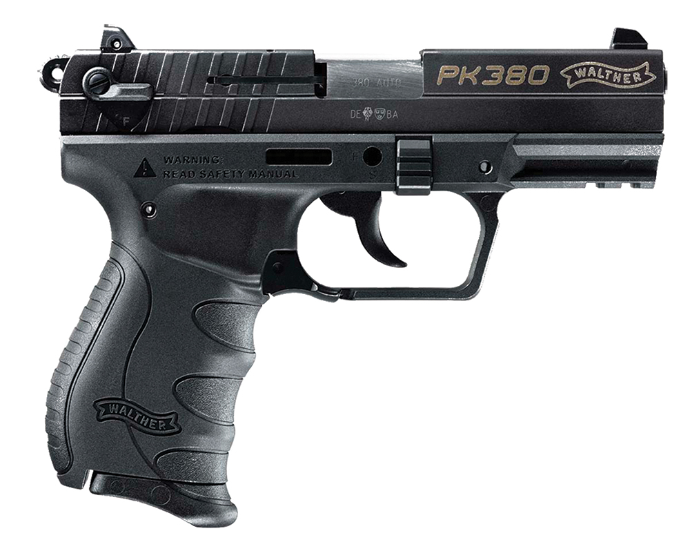 "Walther PK380 .380 ACP 3.66"" Barrel 8 Round Black"
