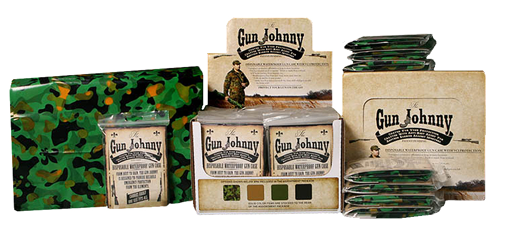 Gun Johnny GJ231 Gun Johnny Disposable Waterproof Gun Case Treated Plastic Camo