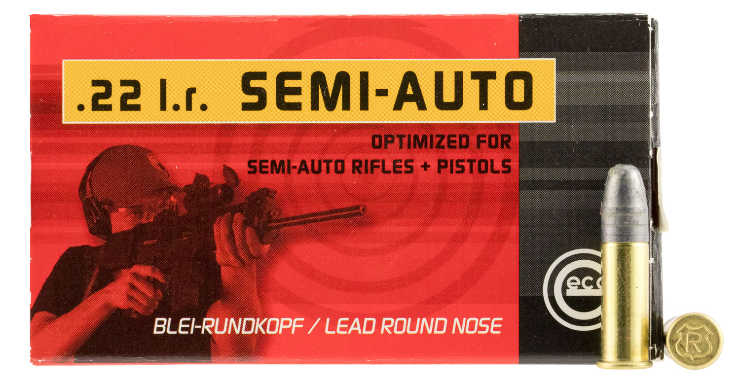 GECO 259940050 22LR Lead Round Nose Pistol 40GR 50 Box/100 Case