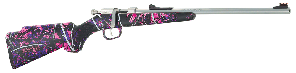 Henry H005MG Mini Bolt 22 Long Rifle Muddy Girl 16.25