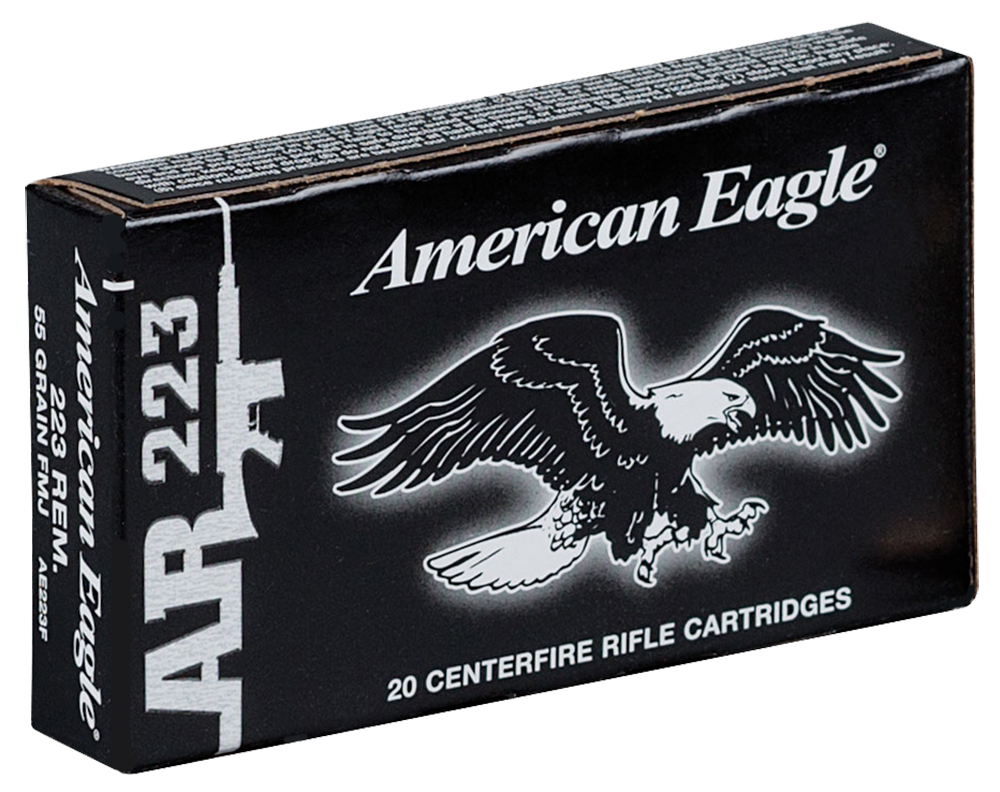 Federal AE223F 223 Remington/5.56 NATO 55GR Full Metal Jacket 20Case/25Box