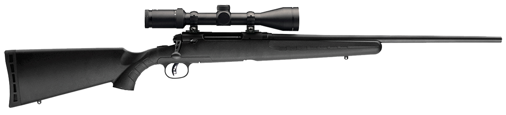 "Savage 22221 Axis II XP w/Weaver Kaspa Scope Bolt 223 Rem 22"" 4+1 Blk Syn Stk"