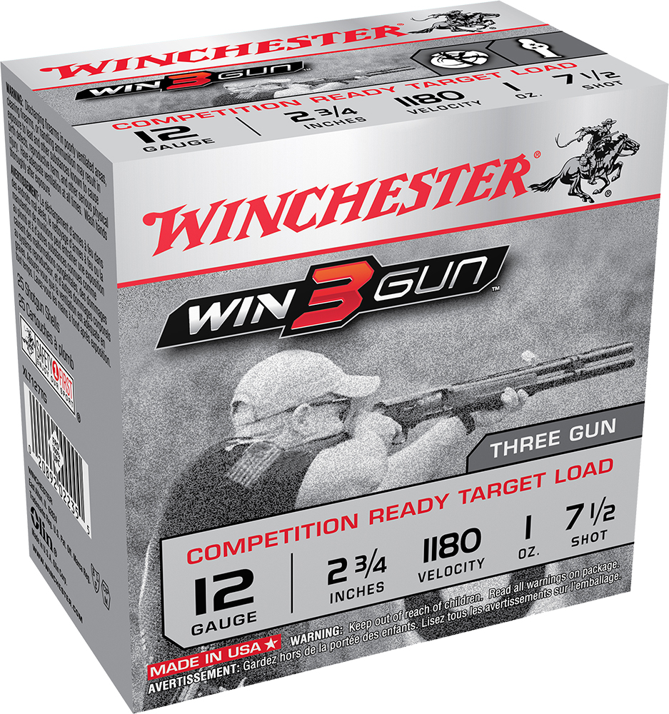 Win Ammo XLT127TG Win3Gun Competition Ready 12ga 2.75
