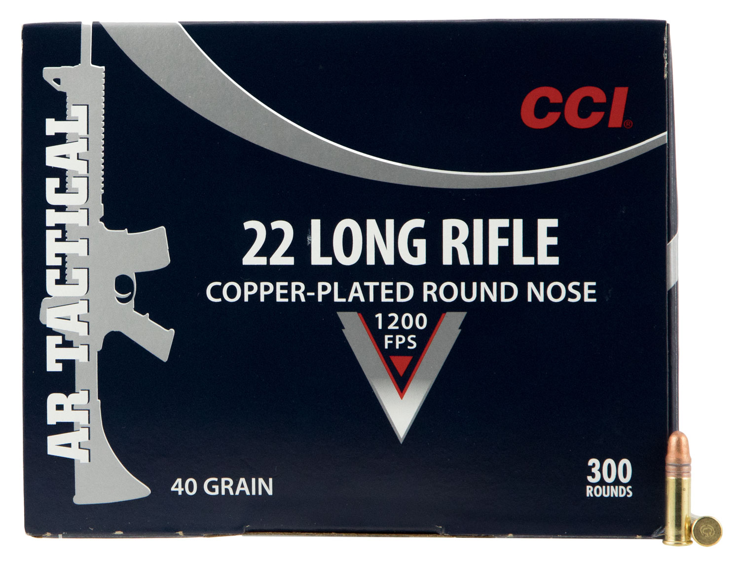 CCI 956 22 Long Rifle Copper-plated Round Nose 40 GR 300Box/10Case