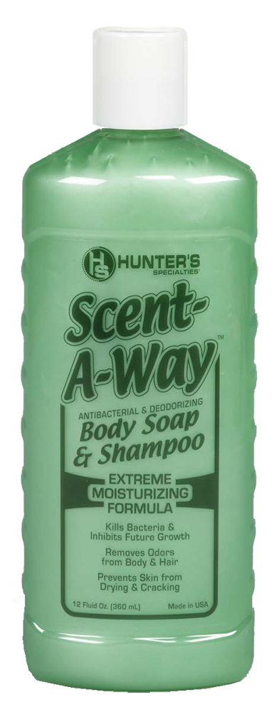 Hunters Special 01150 Scent-A-Way Max Antibacterial Body Wash & Shampoo 12 fl oz