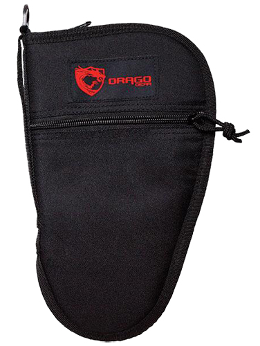 Drago Gear 12314BL Pistol Case 600D Polyester Zipper Mag Pouch Black