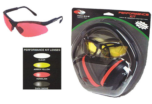 Radians SLRV0120 Earmuffs/Shooting Glasses Dark Smoke