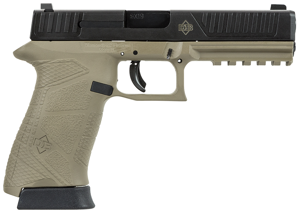Diamondback DB9FSFDE Full Size DAO 9mm 4.75″ 15+1 FDE Frame/Black Slide