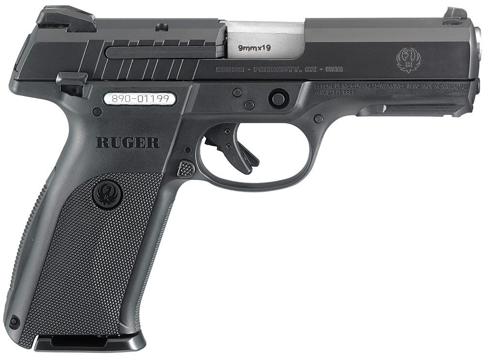 "Ruger 3340 SR9E Standard Double 9mm 4.1"" 17+1 Black Polymer Grip Blued"