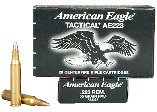 Federal AE223JLC American Eagle 223 Rem Full Metal Jacket BT 55GR 20Bx/25Cs