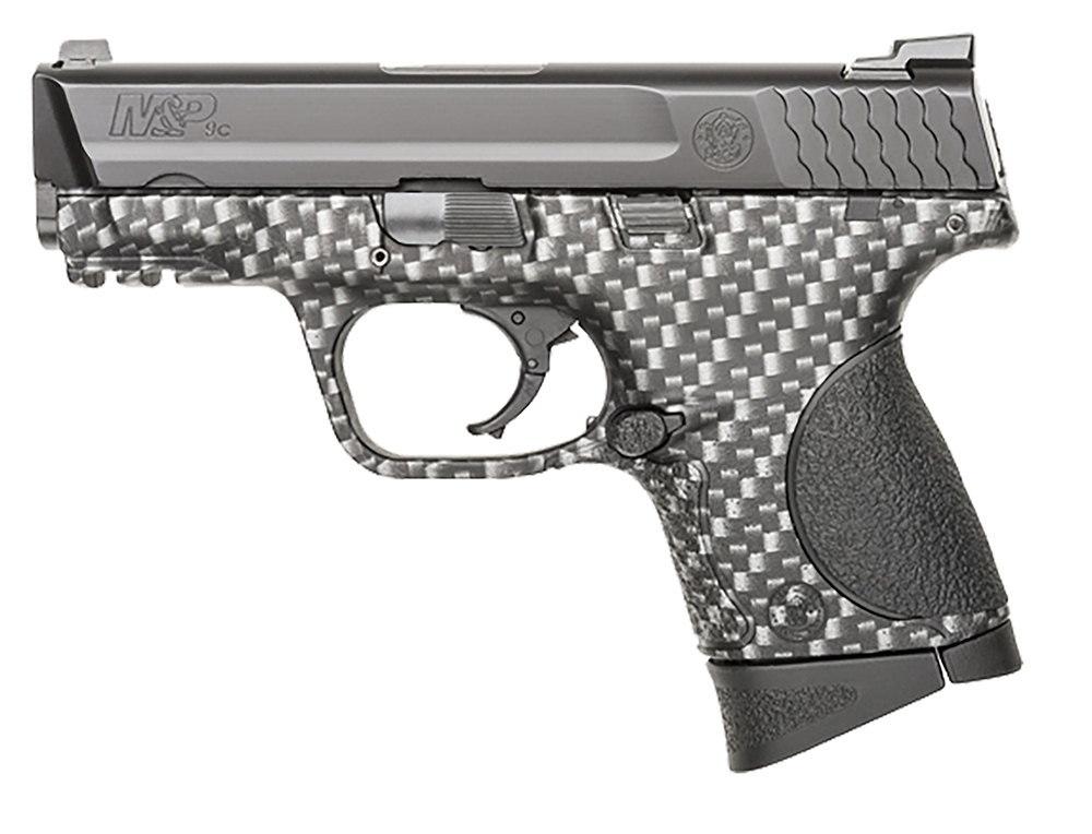 S&W 10123 M&P 9c Double 9mm 3.5″ 12+1 Black Polymer Grip Carbon Fiber Finish