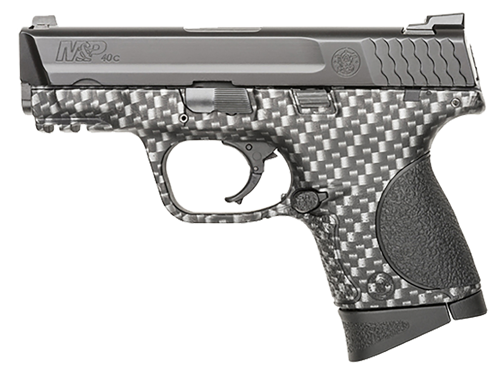 S&W 10124 M&P 40c Double 40 S&W 3.5″ 10+1 Black Poly Grip Carbon Fiber Finish