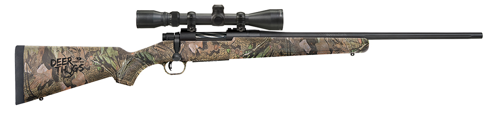 Moss 27921 Patriot Bolt 243 Win 22″ 5+1 3-9×40 Scope Syn MO Break Up Stk Blued