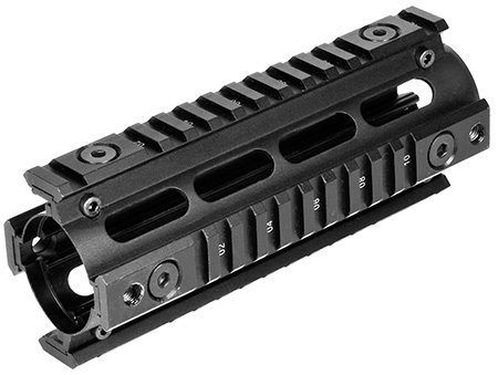 NcStar MAR4S Quad Rail For Carbine Weaver Style Matte Black Finish