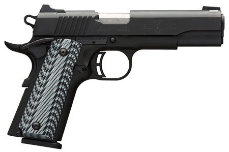 Browning 051900492 1911-380 Black Label Pro SAO 380 Automatic Colt Pistol (ACP) 4.25″ 8+1 3-Dot Black G10 Grip Black