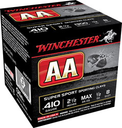 Winchester AASC418 AA Wads Sport Clay 1/2oz 25Box/10Case 410ga 2.5″ 8 Shot