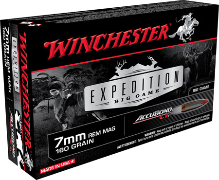 Winchester Ammo S7MMCT Supreme 7mm Rem Mag AccuBond CT 160 GR 20Box/10Case