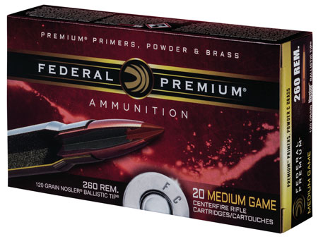 Federal P260B Vital-Shok 260 Remington Nosler Ballistic Tip 120 GR 20Box/10Case