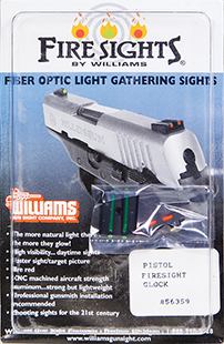Williams 56359 FireSights All For Glocks Red, Green
