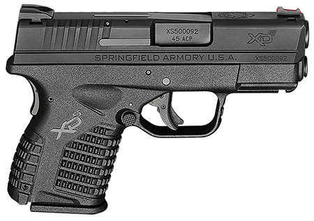 Springfield XDS93345BE XD-S Essential 45 ACP DAO 3.3″ 5+1 Poly Grip/Frame Black
