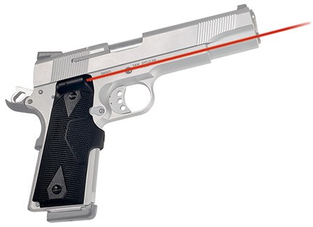 Crimson Trace LG401 Lasergrip 1911 Full Size Govt/Cmdr Red 5mW 633nm