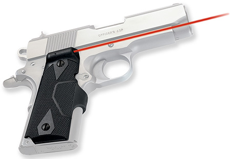 Crimson Trace LG404 Lasergrip 1911 Compact Off/Dfndr Red 5mW 633nm