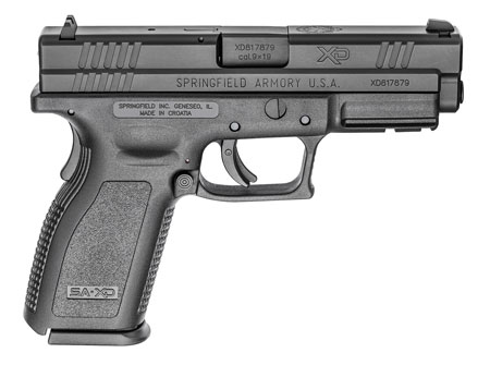 Springfield XD9101HC XD Essential Package DAO 9mm 4″ 16+1 Poly Grip/Frame Blk
