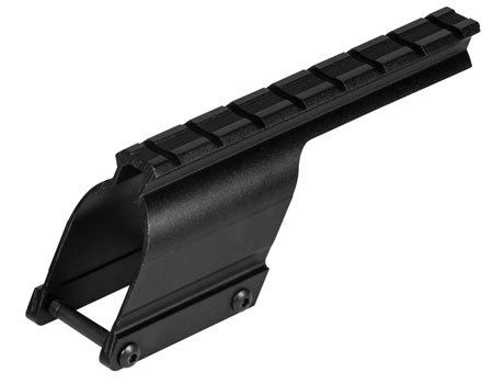 B-Square 16812 Saddle Mount w/Rings For Remington 870 12/20 Gauge Matte Black